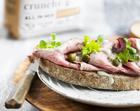Crunchy Gold sandwich with Vitello Tonnato