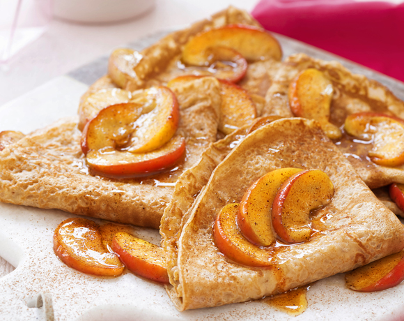 Lovely Crepes with baked apples