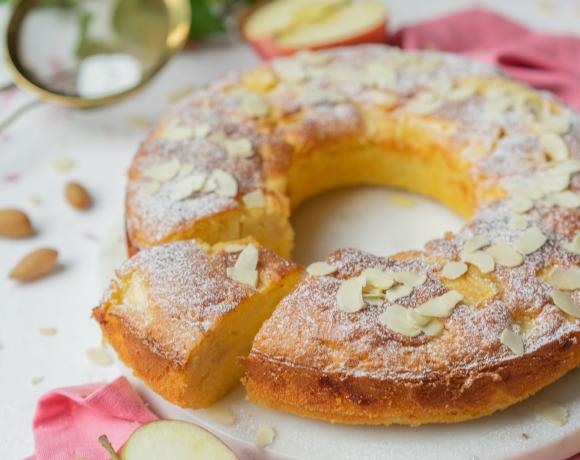 Heavenly Cake aux pommes et aux amandes effilées