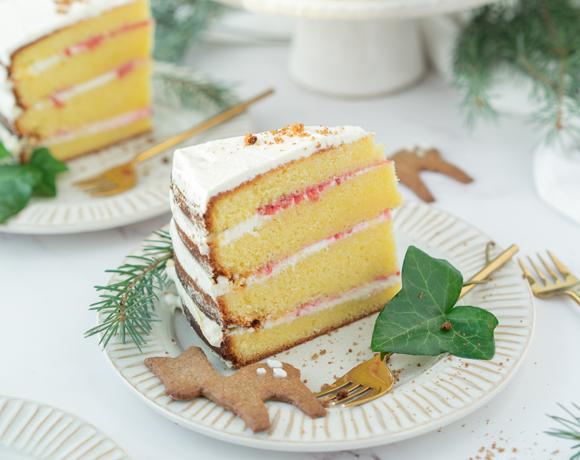 Gâteau de Noël Heavenly Cake à la crème au fromage frais, à la confiture et au mix Authentic Speculaas
