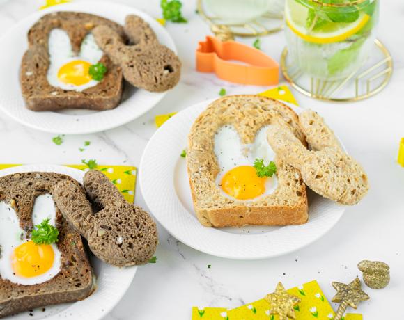 Tartines Rustic Dark et Crunchy Gold en forme de lapin